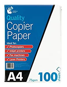 A4 Copier Paper 100 Sheets 75gsm PHOTOCOPY, LASER & INKJET PRINTER