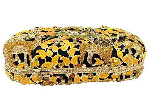 Partito Pochette Donna Sera Borsetta Portafoglio Cerimonia Borsa Sposa Spalla Frizioni Eleganti Verde Yellow