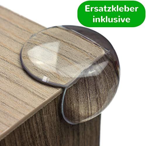 maliveo Premium Eckenschutz und Kantenschutz transparent aus Kunststoff für Tisch- und Möbel-Ecken - Stoßschutz für Baby\'s und Kinder (12 Stück, Rund)