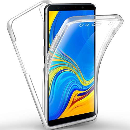 AROYI Samsung Galaxy A7 2018 Hülle 360 Grad Handyhülle, Silikon Crystal Full Schutz Cover [2 in 1 Separat Hart PC Zurück + Weich Tpu Vorderseite] Vorne und Hinten Schutzhülle für Samsung A7 2018