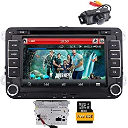 EINCAR Stéréo Voiture pour VW Double Din Radio Voiture pour Volkswagen 7 Pouces à écran Tactile Lecteur DVD de Voiture CD de Support RDS/FM/AM/USB/SD/GPS Navigation Head Unit/Control Volant ave