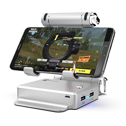 BQT Spiel Herr X1 Combat Dock Converter Stand Docking PUBG, FPS-Spiel Verwenden Sie Tastatur und Maus Für Familie Feld Schlafsaal,Silver