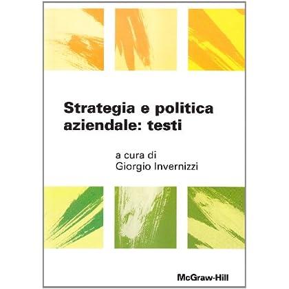 Strategia e politica aziendale: testi