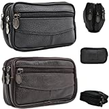 Unisex Real Leather Small Zip Coin Bag/Pouch/Wallet/Coin/Key Purse New