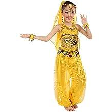 feiXIANG Trajes para niñas Bebé Niños Baile Indio Danza del Vientre Juego de Disfraces Elegante Danza