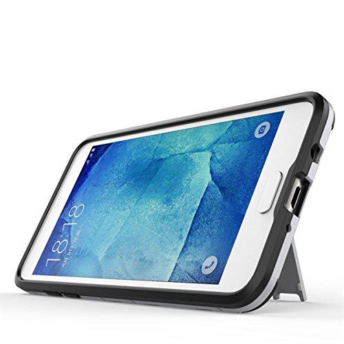 GALAXY J3 Hülle,EVERGREENBUYING Abnehmbare Hybrid Schein SM-J3109 Cases Ultra-dünne Schutzhülle Case Cover mit Ständer für Samsung GALAXY J3 (Gold+Schwarz) Blau
