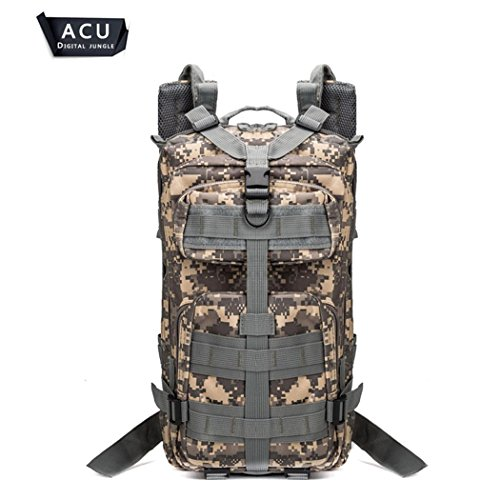 20-35 camouflage Series alpinisme sac à dos Outdoor sports aventure randonnée Camping escalade sac à dos Tactical Shoulder Backpack H43 x l 23 x T26 cm