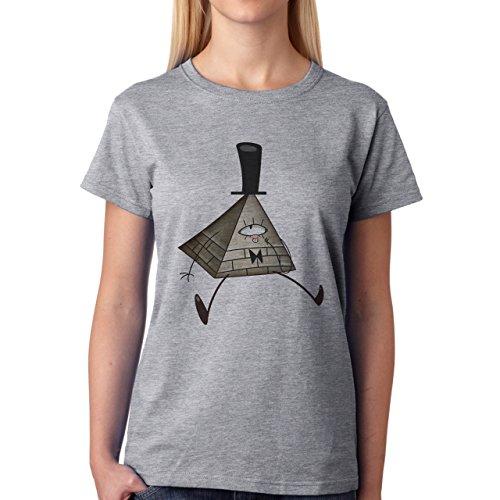 Mr Illuminati Symbolic New World Order Art Damen T-Shirt Grau