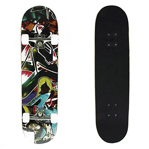 Senmi 78,7cm (78,5cm) Standard skateboard completo con una tavola  strati in acero canadese con borsa di skateboard, Spitfire