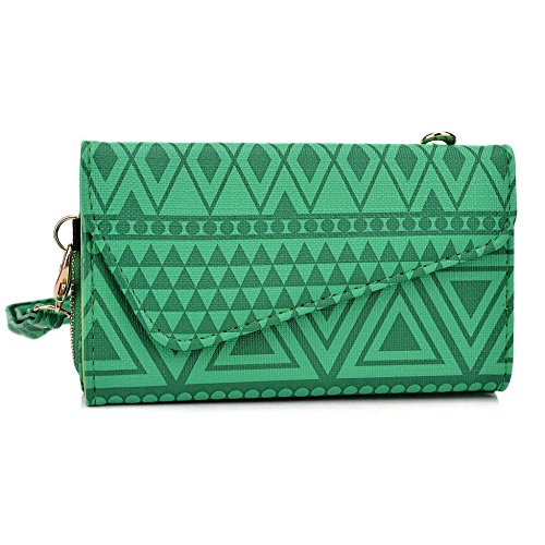 Kroo Pochette/étui style tribal urbain pour Philips w8500 Multicolore - White with Mint Blue Multicolore - vert