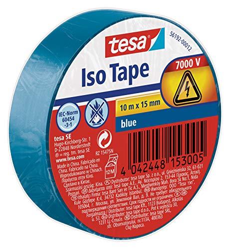 Tesa Isolierband,  blau, 10m:15mm