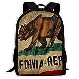 Best California Umbrella Outdoor Umbrellas - Casual Backpack Vintage California Flag 3D Printing School Review