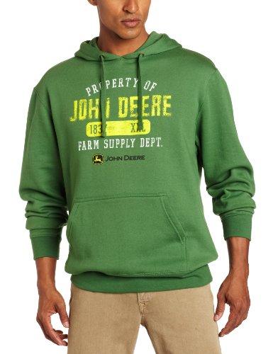 John Deere uomo con Logo proprietà Off-Cappuccio, in pile, colore: verde, taglia: XXL