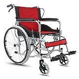 Chaise handicapée âgée portative de fauteuil roulant en acier léger se pliant...