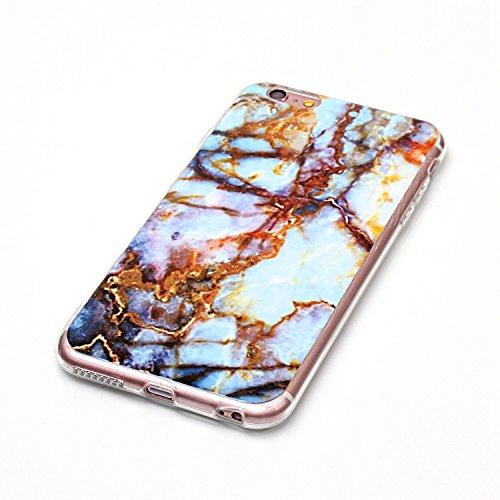 Für Apple IPhone 6 6s Plus Case Marbling Texture Soft TPU Cover Slim Ultra Thin Anti-Kratzer Schock Absorption Schutzmaßnahmen zurück Deckung Shell ( Color : Q ) B