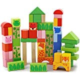 YEWJ Los juguetes educativos de los juguetes de la construcción de los niños, juguetes educativos de los niños de la educación temprana, ensamblaje de partículas grandes juguete ( Color : Forest Animals )