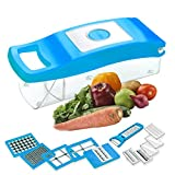 #5: BMS Lifestyle Accura Madind Premium Nicer vegetables and fruits Slicer Chippers and chopper, 1 Piece, Sky Blue