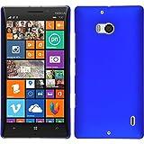 PhoneNatic Case für Nokia Lumia 930 Hülle blau gummiert Hard-case + 2 Schutzfolien
