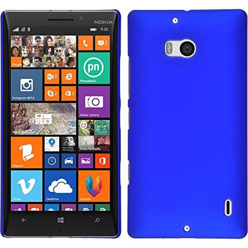 PhoneNatic Custodia Rigida per Nokia Lumia 930 - gommata blu - Cover + pellicola protettiva