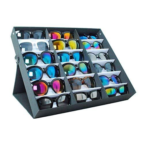Buyi-World Vitrina Gafas Sol 18 Piezas Caja Almacenamiento