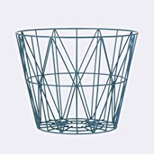 Ferm Living Wire Basket - Petrol - Large - h45 x b60 cm