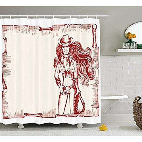 yeuss Western Vorhang für die Dusche von, Sexy -