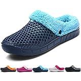 BOLOG Mules Clogs Herren Damen Winter Pantoffeln Warm Hausschuhe Slip auf Garten Schuhe Hausschuhe Pantoletten Pelz Gefüttert Folien Flip-Flops Unisex