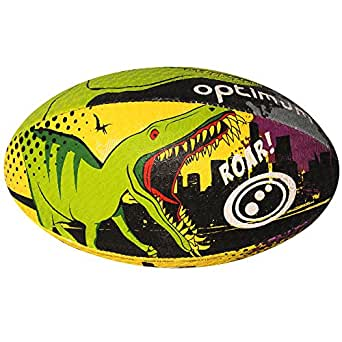 Optimum Dino City Rugby Ball - Multicoloured, Size 3