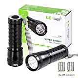 LE 2 Pack LED Torch, 14 LEDs Handheld Flashlights, Waterproof IP44, 6 AAA Batteries Included Bild 1