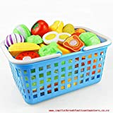 #6: PLUSPOINT 22 Pcs Realistic Sliceable Cut-Fruits and Vegetables Along with Basket and Kitchen Accessories Ready to Cook n Serve.
