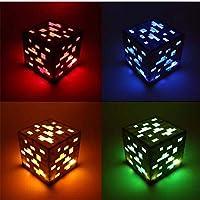 LISAY Lámpara de noche, luz de juguete Redstone Lámpara de noche Mineral cuadrado LED Figura de a...