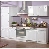 Pharao24 Küche 280 Weiß HG ohne Elektro Whites