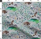Büffel, Adler, Berg, Wildnis, Wolf Stoffe - Individuell