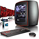 "VIBOX Atom RL570-208 Gaming PC Computer with Game Voucher, Windows 10 Pro OS, 3x Triple 27"" HD Monitor (4.0GHz Intel i5 6-Core Processor, MSI Radeon RX 570 Graphics Card, 16GB DDR4 RAM, 960GB SSD)"