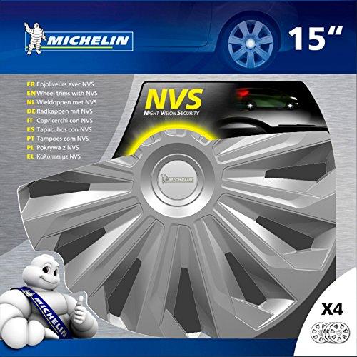Michelin-009127-Copricerchi-Grigio-15-Set-di-4