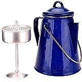Cafetière émaillée avec percolateur Capacité 8 tasses (2L). Pot à Café en Email 600gr Percolateur séparé inclus. Peut être utilisé comme cafetière, bouilloire ou théière. Parfait pour le camping, caravaning, barbecue et pique-nique....