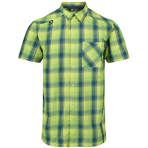 Regatta Kalambo IV SS Shirt Men Lime Punch Größe L 2019 Kurzarmshirt