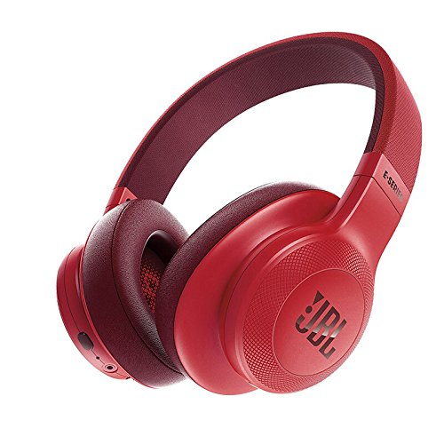 JBL E55BT Over-Ear Wireless Headphones Red|Standard/Upgrade/Home/Personal/Professional etc|1|1|PC/Mac/Android etc|Disc|Disc