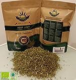Eco-Cannabis CBD Hanf Gemahlen Buds 100g BIO / Blüten / Knospen + Hanftee Cannabis Sativa aus biologischem Anbau (THC <0,2%,CBD 3,5-4%).