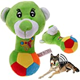 Rrimin Pet Toys Lovely Pet Puppy Dog Soft Stuffed Toys Sound Squeaky Dog Bear Toy