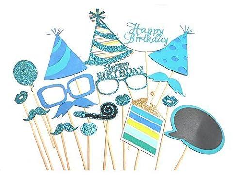 Lot de 18coloré Parti accessoires photo sur de DIY Coque pour bébé Show, anniversaire, fêtes pour enfants par Coupe Shop