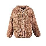 Topkundenservice Damen Mantel Fell Jacke Frauen Winter Fur Jacke Fellmantel Parka Kunstpelz Mantel S(EU Size XXS)