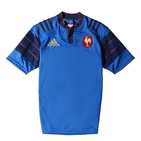 Adidas FFR A JSY T-shirt pour homme Rouge/doré L Azul / Azul marino / Rojo / Blanco