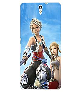 ColourCraft Warrior Girl Design Back Case Cover for SONY XPERIA C5 ULTRA