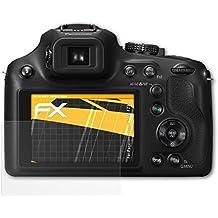 3 x atFoliX Película Protectora Panasonic Lumix DMC-FZ72 Lámina Protectora de Pantalla - FX-Antireflex anti-reflectante
