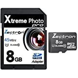 8GB Micro Class 10 SD SDHC High Speed Zectron Digital Camera Memory Card for Nikon CoolpixS50, S50c, S51, S51c, S52, S52c, S60, S70, S80, S100, S200, S202, S203, S210, S220, S225, S230, S500, S510, S520, S550, S560, S570, S600, S610, S610c, S620, S630, S640, S700, S710, S1000pj, S1100pj, S1200pj, S2500, S2550, S3000, S3100, S4000, S4100, S4150, S5100, S6000, S6100, S6150, S6200, S8000, S8100, S8200, S9100