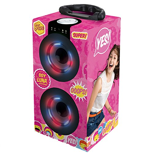 Lexibook Disney Soy Luna Mini Tour de son Bluetooth, 2W, prise jack aux-in, batterie rechargeable, rose/jaune, BT600SL