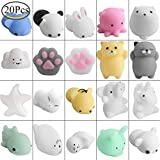 Defrsk 20 Unids Squishy Animals Mochi Juguetes Mini Stress Squishies Mochi Stress Relief Animales...