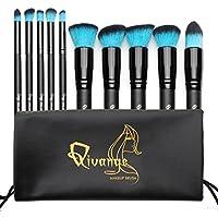 QIVANGE Makeup Brushes-Set di pennelli da trucco professionali, con borsa