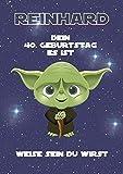 Personalisiert für Mann oder Frau: Geburtstagskarte lustig als Geschenk in DinA4 - Motiv: Star Wars | lustige Geschenke für Männer zum 40. Geburtstag (auch 50/60 Jahre) | Als Klappkarte oder Druck